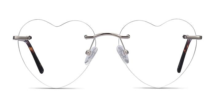 Bae Argenté Métal Montures de lunettes de vue d'EyeBuyDirect
