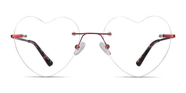 Love Burgundy Metal Eyeglass Frames