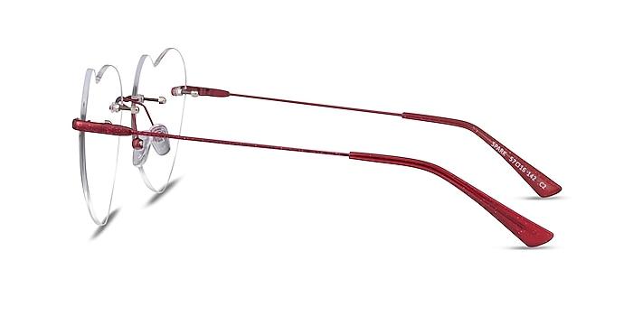 Spark Glitter Red Metal Eyeglass Frames from EyeBuyDirect