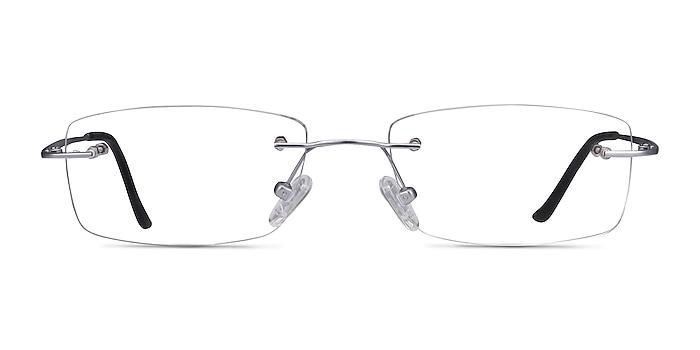 Ebb Argenté Titane Montures de lunettes de vue d'EyeBuyDirect