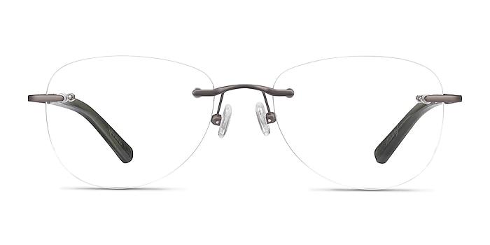 Smooth Dark Gunmetal Titanium Eyeglass Frames from EyeBuyDirect