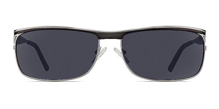 Brighton Silver/Black Metal Sunglass Frames from EyeBuyDirect