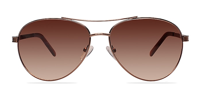 Everett Brown Metal Sunglass Frames from EyeBuyDirect