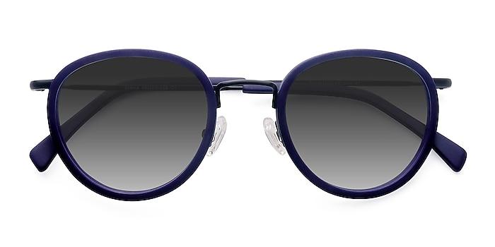 Matte Navy Siena -  Vintage Acetate, Metal Sunglasses