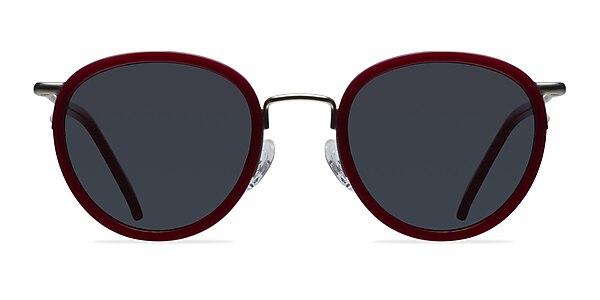 Siena Red Acetate-metal Sunglass Frames