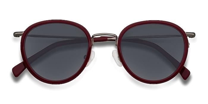 Rouge Siena -  Vintage Acetate, Metal Lunettes de soleil