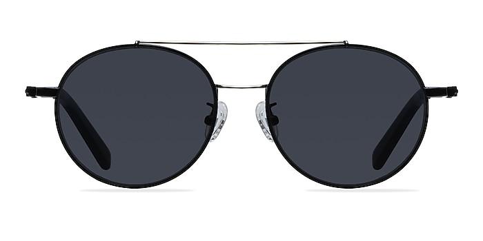 Hendrix Black/Silver Metal Sunglass Frames from EyeBuyDirect