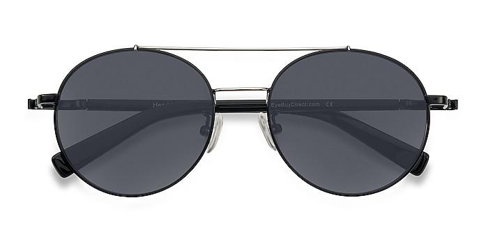 Black/Silver Hendrix -  Vintage Metal Sunglasses