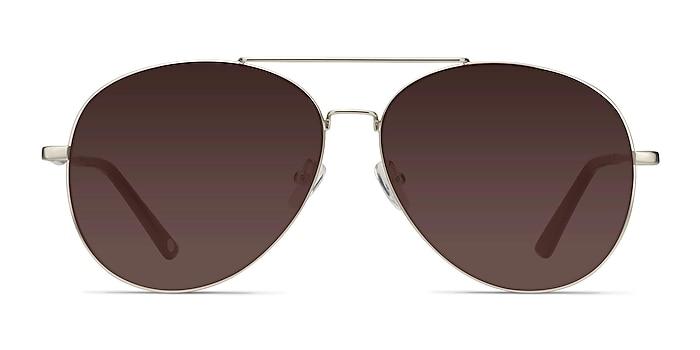 Camp  Matte Silver  Metal Sunglass Frames from EyeBuyDirect