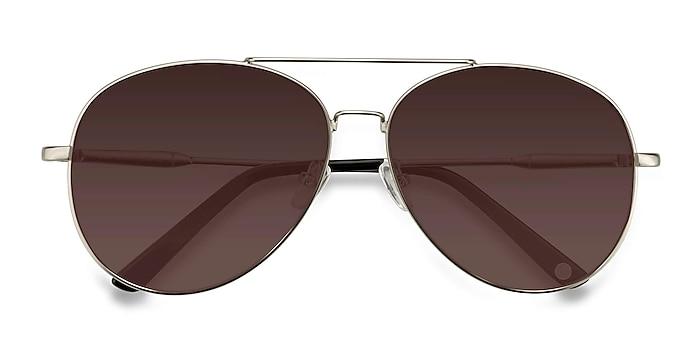 Matte Silver  Camp -  Vintage Metal Sunglasses