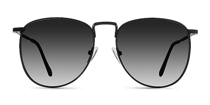 Fume Black Metal Sunglass Frames from EyeBuyDirect