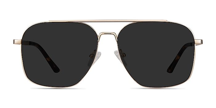 Route 66 Golden Metal Sunglass Frames from EyeBuyDirect
