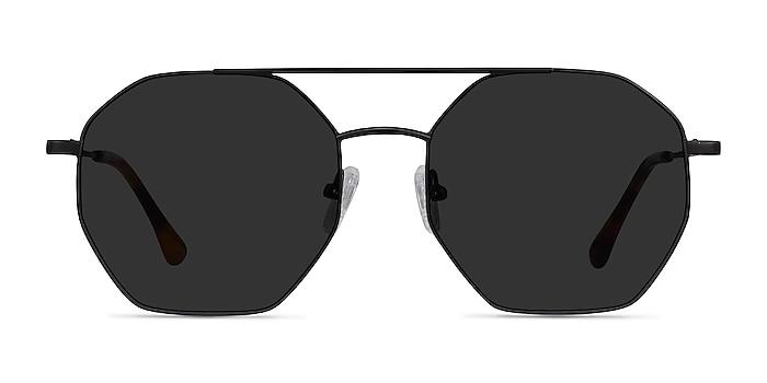 Sun Eight Black Metal Sunglass Frames from EyeBuyDirect