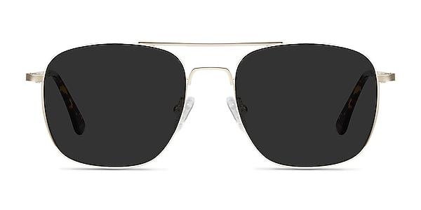 Sun Fame Golden Metal Sunglass Frames