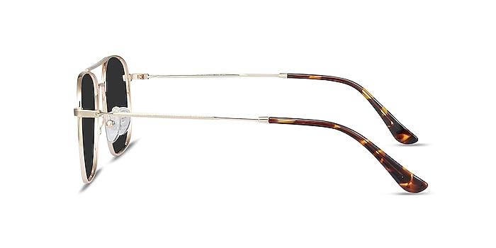 Sun Fame Golden Metal Sunglass Frames from EyeBuyDirect