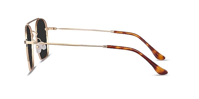 Itza Golden Metal Sunglass Frames from EyeBuyDirect