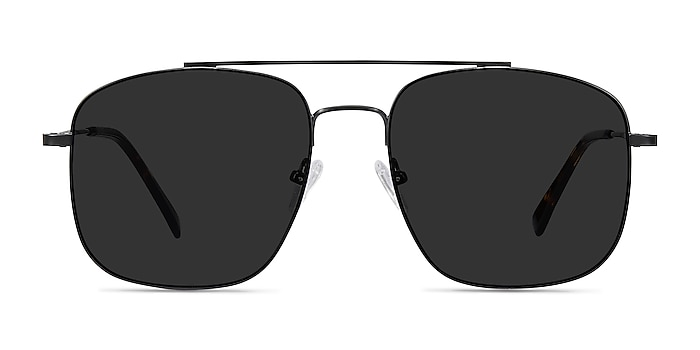 Roadtrip Black Metal Sunglass Frames from EyeBuyDirect