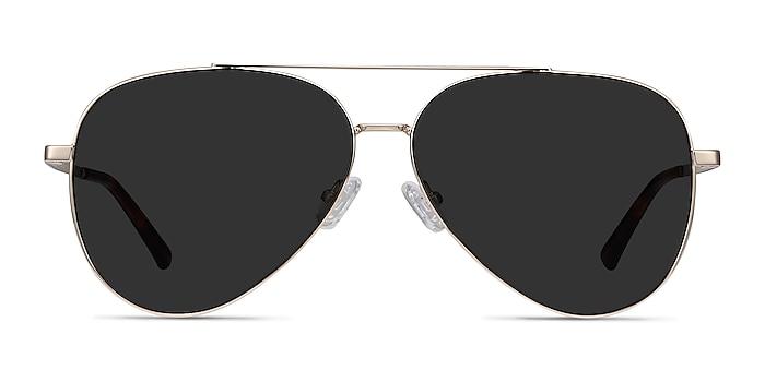 Flier Golden Metal Sunglass Frames from EyeBuyDirect