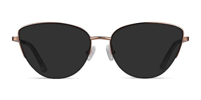 Sun Star Rose Gold Metal Sunglass Frames from EyeBuyDirect