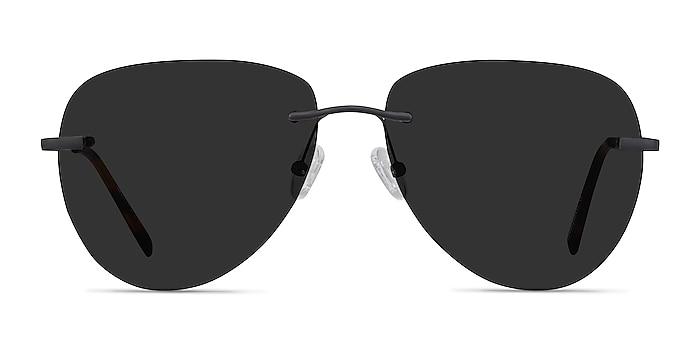 Martin Matte Black Metal Sunglass Frames from EyeBuyDirect