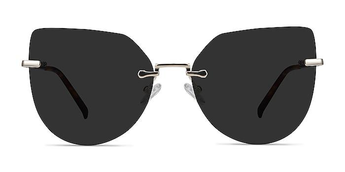 Toyah Light Gold Metal Sunglass Frames from EyeBuyDirect