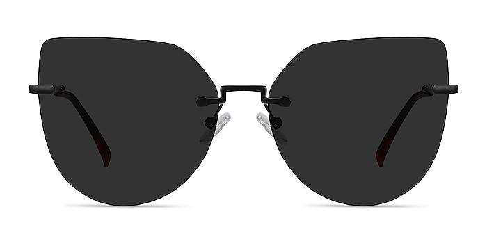 Toyah Black Metal Sunglass Frames from EyeBuyDirect