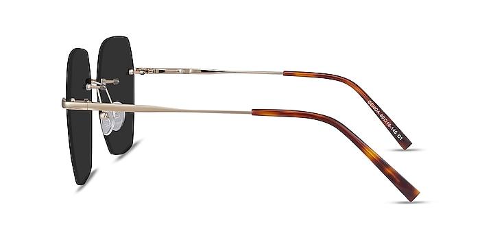 Genoa Gold Metal Sunglass Frames from EyeBuyDirect