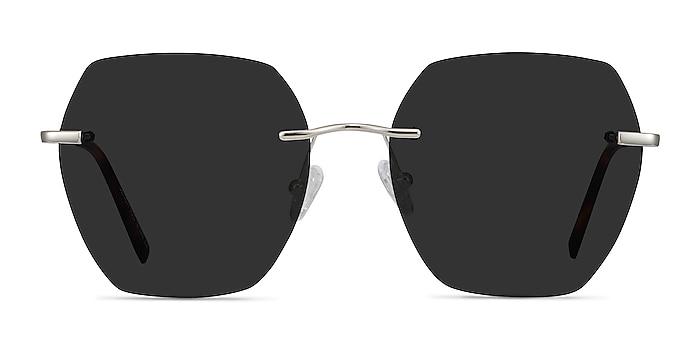Genoa Silver Metal Sunglass Frames from EyeBuyDirect