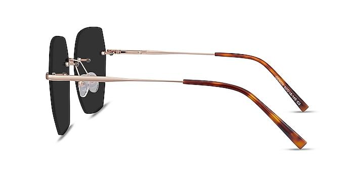 Genoa Rose Gold Metal Sunglass Frames from EyeBuyDirect
