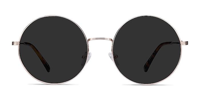 Teavee Gold Metal Sunglass Frames from EyeBuyDirect