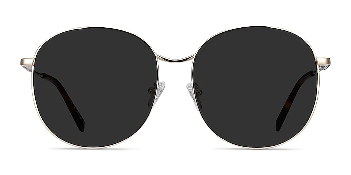 Sage Gold Metal Sunglass Frames from EyeBuyDirect