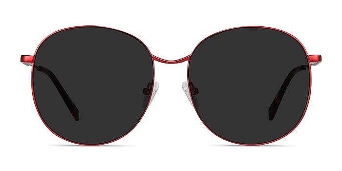 Sage Rouge Métal Soleil de Lunette de vue d'EyeBuyDirect