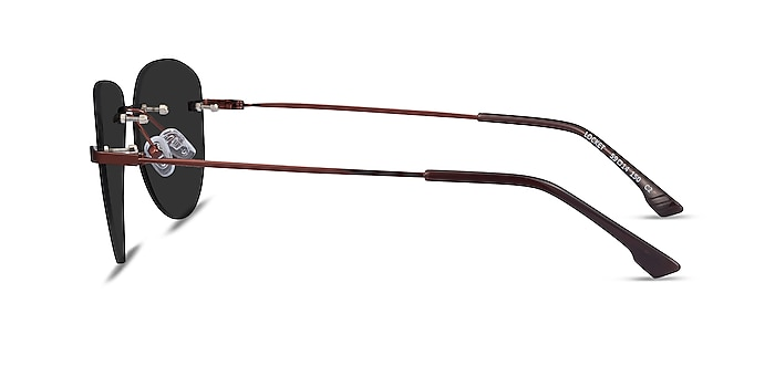 Locket Bronze Metal Sunglass Frames from EyeBuyDirect
