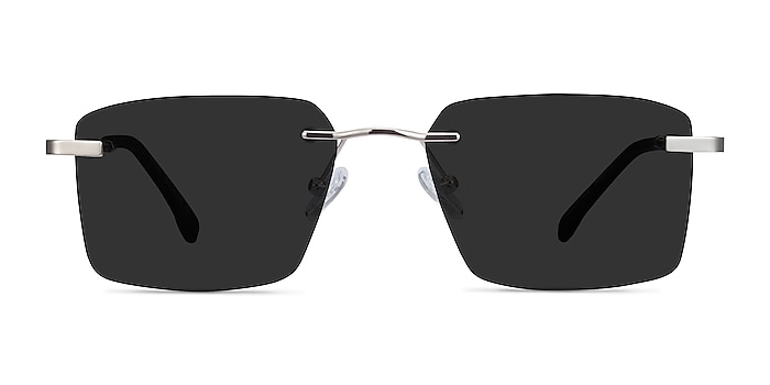 Invent Silver Metal Sunglass Frames from EyeBuyDirect