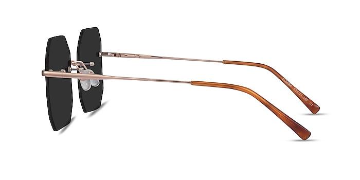 Elmira Rose Gold Metal Sunglass Frames from EyeBuyDirect
