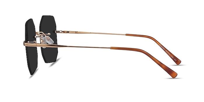 Elmira Gold Metal Sunglass Frames from EyeBuyDirect