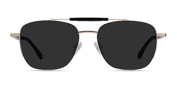 Jackson Gold Black Acetate Sunglass Frames