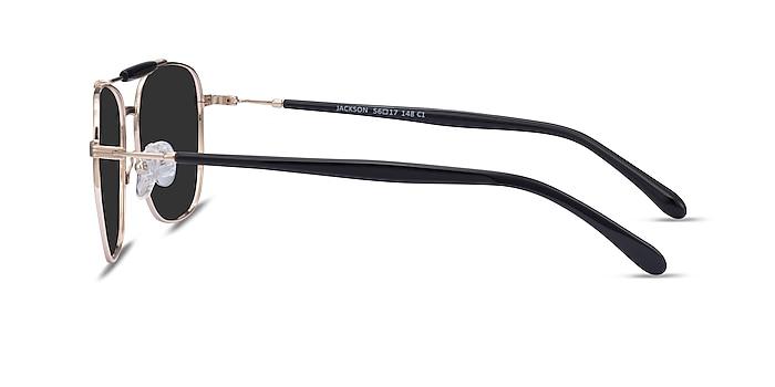 Jackson Gold Black Acetate Sunglass Frames from EyeBuyDirect