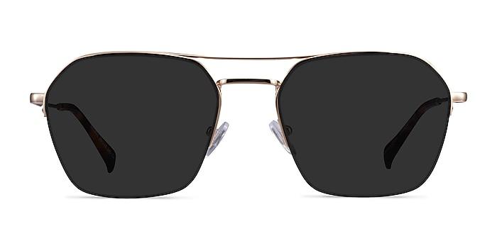 Decade Gold Metal Sunglass Frames from EyeBuyDirect