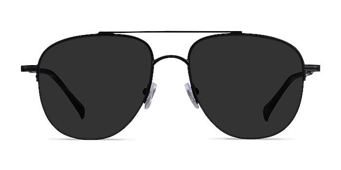Garros Black Tortoise Metal Sunglass Frames from EyeBuyDirect