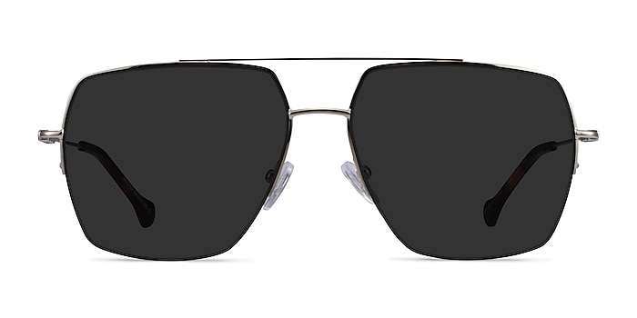 Whittle Silver Metal Sunglass Frames from EyeBuyDirect