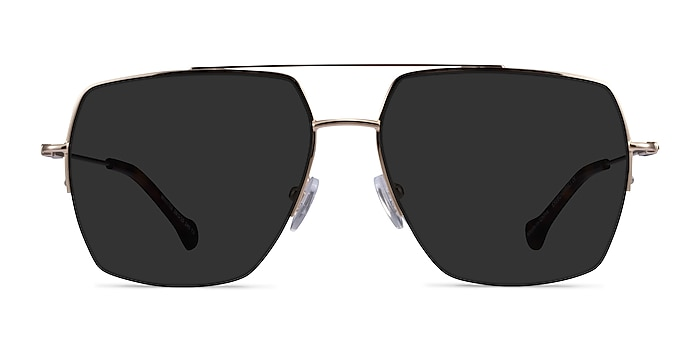Whittle Gold Metal Sunglass Frames from EyeBuyDirect