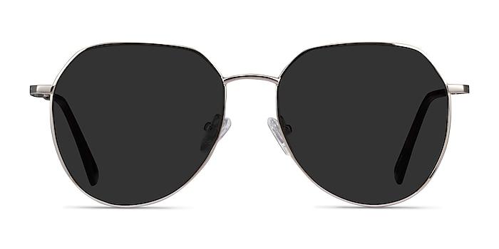 Carlsbad Silver Metal Sunglass Frames from EyeBuyDirect
