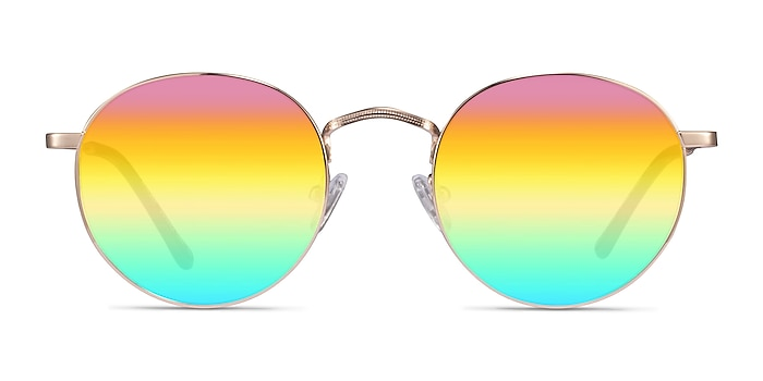 Whisky Gold Metal Sunglass Frames from EyeBuyDirect