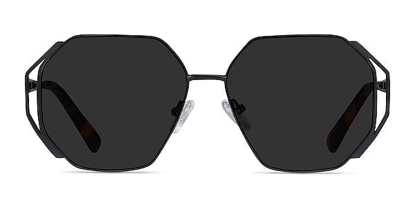 Obscura Matte Black Metal Sunglass Frames