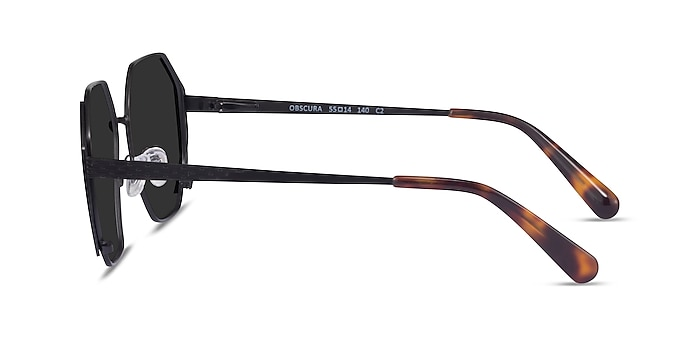 Obscura Matte Black Metal Sunglass Frames from EyeBuyDirect