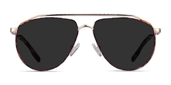 Rotor Tortoise Gold Metal Sunglass Frames from EyeBuyDirect