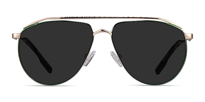 Rotor Green Gold Metal Sunglass Frames from EyeBuyDirect