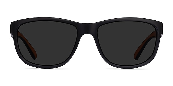 Determined Black Plastic Sunglass Frames