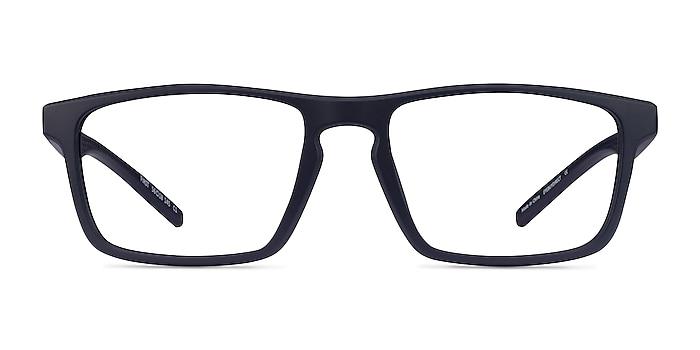 First Navy Plastic Eyeglass Frames from EyeBuyDirect